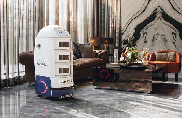 นวัตกรรมจากแสนสิริ - แสนดี หุ่นยนต์บริการ